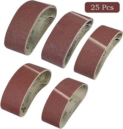 25 unidades, 20 x 520 mm, grano 40 F4G Klingspor CS 411 Y Bandas de lija