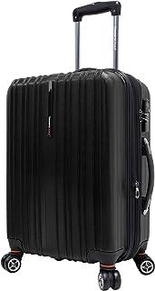 Travelers Choice Tasmania 21 Inch Expandable Spinner Luggage, Black