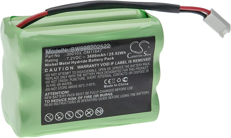 vhbw Batería recargable compatible con WalkMed Infusion Pump, Infusion Triton tecnología médica (3600 mAh, 7,2 V, NiMH)