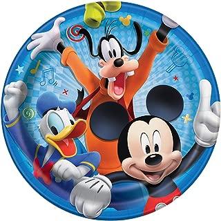 Disney Mickey Roadster Round 9 Dinner Plates 8ct