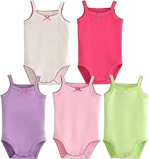 Infant/Toddler Baby Girls Boys Sleeveless Onesies Tank Top Cotton Baby Bodysuit Pack of Summer...