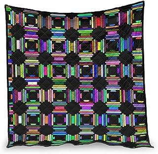 Bohohobo Patrón de color arcoíris para aire acondicionado, edredón suave, edredón nórdico, patrón de ajuste para ropa de cama, el mejor regalo para la familia, blanco 130 x 150 cm