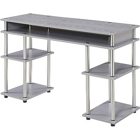 Convenience Concepts Designs2Go No Tools Student Desk, Gray