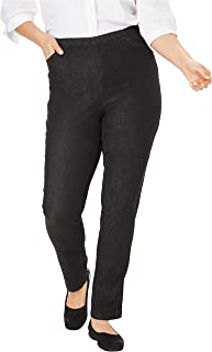 Woman Within Women's Plus Size Tall Straight Leg Fineline Jean