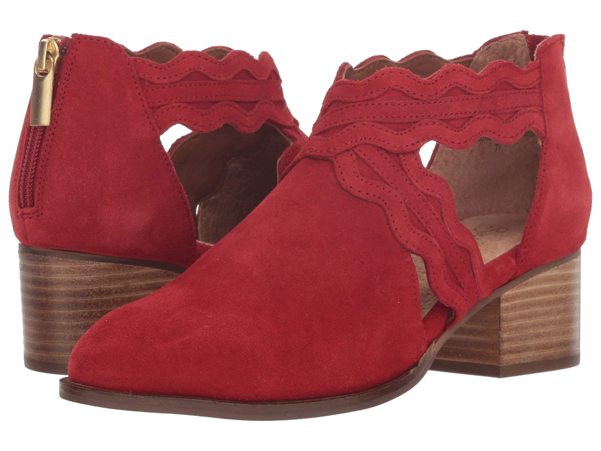 Seychelles Together All Suede Bootie Red r1Sr8