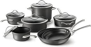Calphalon 1876788 Contemporary Hard-Anodized Aluminum Nonstick Cookware Set, 12-Piece, Black