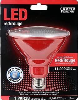 Feit Electric PAR38/R/10KLED Feit PAR38 Red Color Non-Dimmable LED Light Bulb