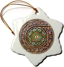 Photo of Mosaic Wall Decor, Marrakesh, Morocco, Photo by Rhonda Albom Snowflake Ornament, Porcelain, 3-inch