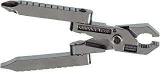 Swiss+Tech ST50022 Polished SS 6-in-1 Key Ring Multitool with Screwdrivers, Pliers, Wire Cutter/Stripper