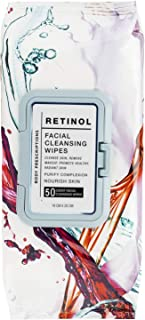 Sponsored Ad - Body Prescriptions Single Pack (50 Count Each) Retinol Facial Cleansing and Gentle Make Up Remover Wipes – ...