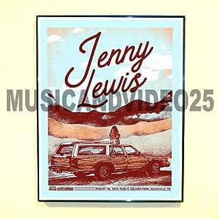 Jenny Lewis Framed Poster August 18 2016 Nashville Tour Promo RILO Kiley (Unframed - Print Only)