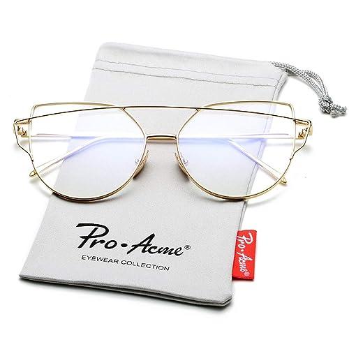 ebfbe5c7a14 Pro Acme Aviator Crystal Lens Large Metal Sunglasses