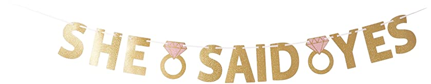 She Said Yes Foil Letter Banner | Wedding and Engagement Party
