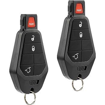 KeylessOption Keyless Entry Remote Control Car Key Fob Starter Alarm for Jeep Commander Grand Cherokee 08-13