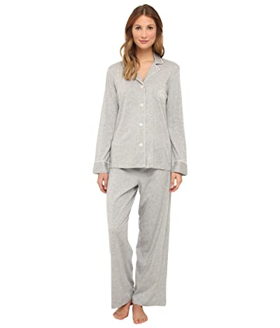 LAUREN Ralph Lauren Hammond Knits Pajama Set (Heather Grey) Women