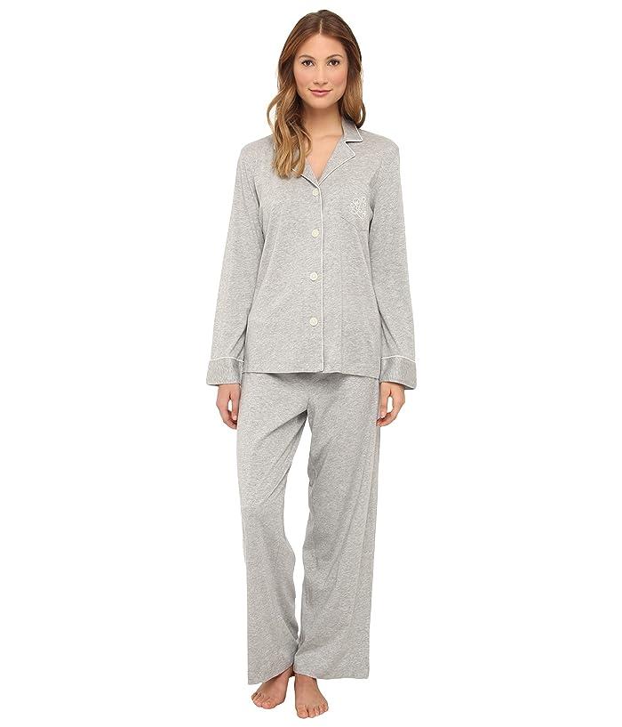 LAUREN Ralph Lauren Hammond Knits Pajama Set (Heather Grey) Women