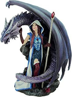 Dragon's Mage by Anne Stoke Sorceress and Dragon Statue