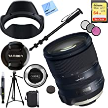 Tamron SP 24-70mm f/2.8 Di VC USD G2 Lens for Nikon Mount Bundle with TAP-in Console Lens Accessory, 64GB Memory Card, 60 Inch Tripod, Monopod, 82mm Filter Kit, Lens Cleaning Pen, Lens Bag and Cloth