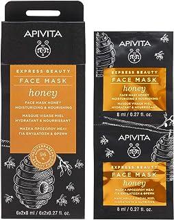 APIVITA Express Beauty Face Mask with Honey, Moisturizing & Nourishing 12 x 0.27 fl.oz. | Moisturizing & Nourishing Face Mask