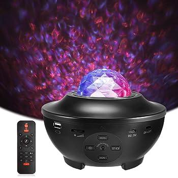 Delicacy Proiettore a Luce Stellare, Proiettore Stellato Bluetooth, LED Luce Rotante Nebulosa con Timer e Telecomando, per Bambini/Adulti/Regalo/Decorazioni