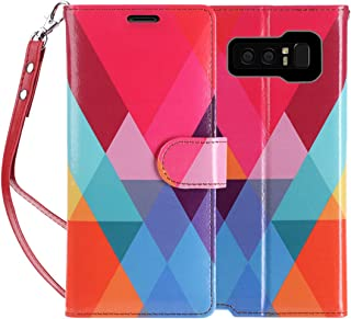 FYY Luxury PU Leather Wallet Case for Galaxy Note 8, [Kickstand Feature] Flip Folio Case Cover with [Card Slots] and [Note Pockets] for Samsung Galaxy Note 8 Colorful