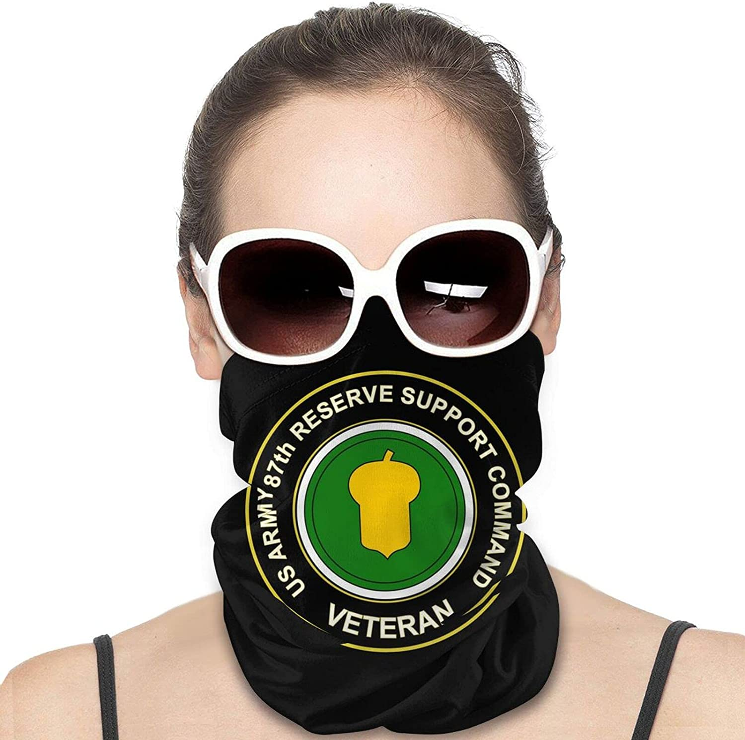 U.S. Army 87th Reserve Support Command Veteran Round Neck Gaiter Bandnas Face Cover Uv Protection Prevent bask in Ice Scarf Headbands Perfect for Motorcycle Cycling Running Festival Raves Outdoors