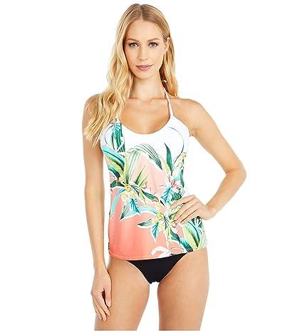 Trina Turk Costa De Prata Adjustable Neckline Halter Tankini Swimsuit Top (Multi) Women
