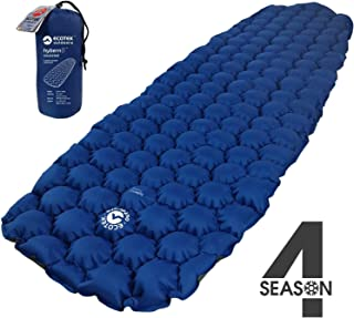 ECOTEK Outdoors Insulated Hybern8 4 Season Ultralight Inflatable Sleeping Pad for Hiking Backpacking and Camping - Contoured FlexCell Design - Perfect for Sleeping Bags and Hammocks