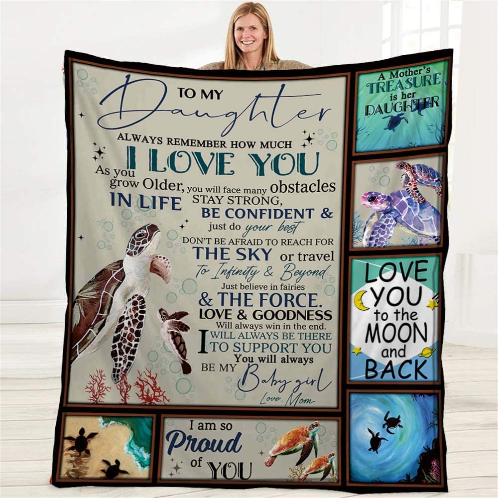 Puurbol to Daughter from Mom Flannel Fleece Gift 4 years warranty Cheap mail order sales Throws Blanket