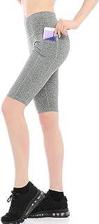 ABUSA 女士高腰收腹瑜伽跑步锻炼紧身裤运动短裤侧口袋