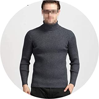 Winter Thick Warm Cashmere Sweater Men Turtleneck Mens Pullover Classic Wool Knitwear Pull