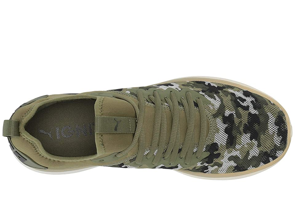 PUMA Ignite Flash Camouflage (Olivine/Puma Black/White) Men's Shoes, Olive