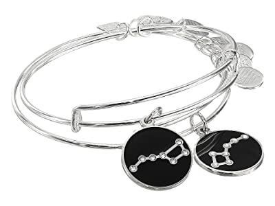 Alex and Ani Charity By Design, Big and Little Dipper Set of 2 Charm Bangle (Shiny Silver) Bracelet