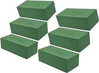 Lot de 6 Blocs de Mousse pour Arrangement Floraux - Briques de Mousse Verte Humide pour Arrangement de Fleurs - Vert - 22,...