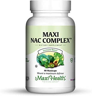 Maxi Health NAC Complex with Molybdenum and Reduced L Gluatathione Capsules, 60 Count