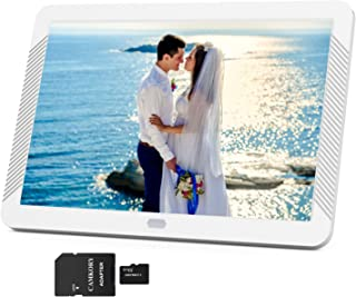 Camkory 1920x1080 Digital Picture Frame 8 Inch Widely IPS Screen Include 32GB SD Card, Photo Auto Rotation, Image Preview, Adjustable Brightness, Support Max 128GB USB Drive, SD, MMC, MS Card