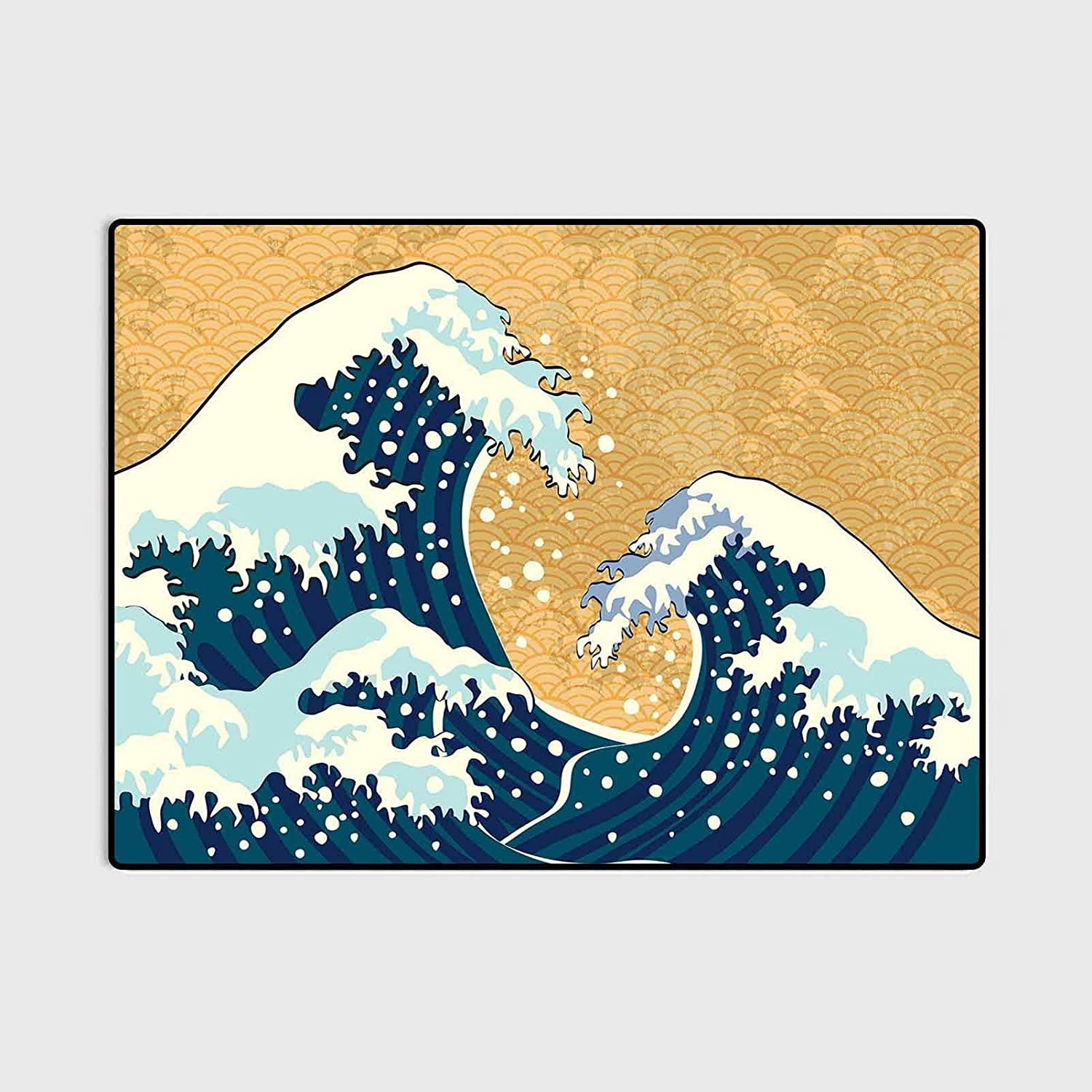 Japanese Wave Anti-Skid Area Free Shipping New Rug Storm in Sea Al sold out. Traditional Japan
