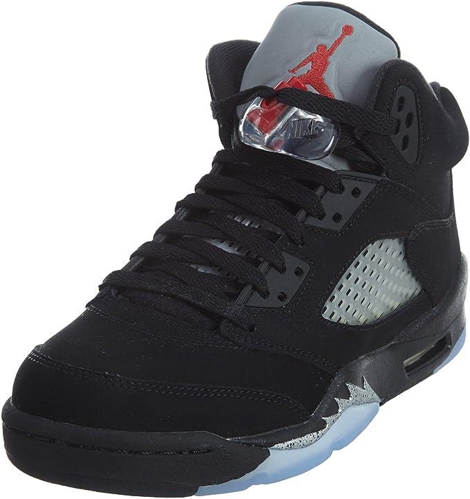Nike Unisex-Child Air Jordan 5 Retro Og Bg Lack/Silver 845036-003