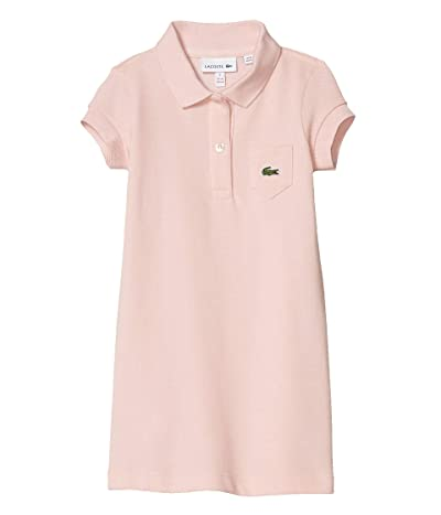 Lacoste Kids Classic Pique Dress with Pocket (Toddler/Little Kids/Big Kids) (Lychee Pink) Girl