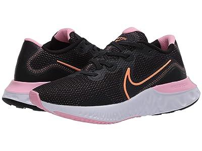 Nike Renew Run (Black/Orange Pulse/White/Pink) Women