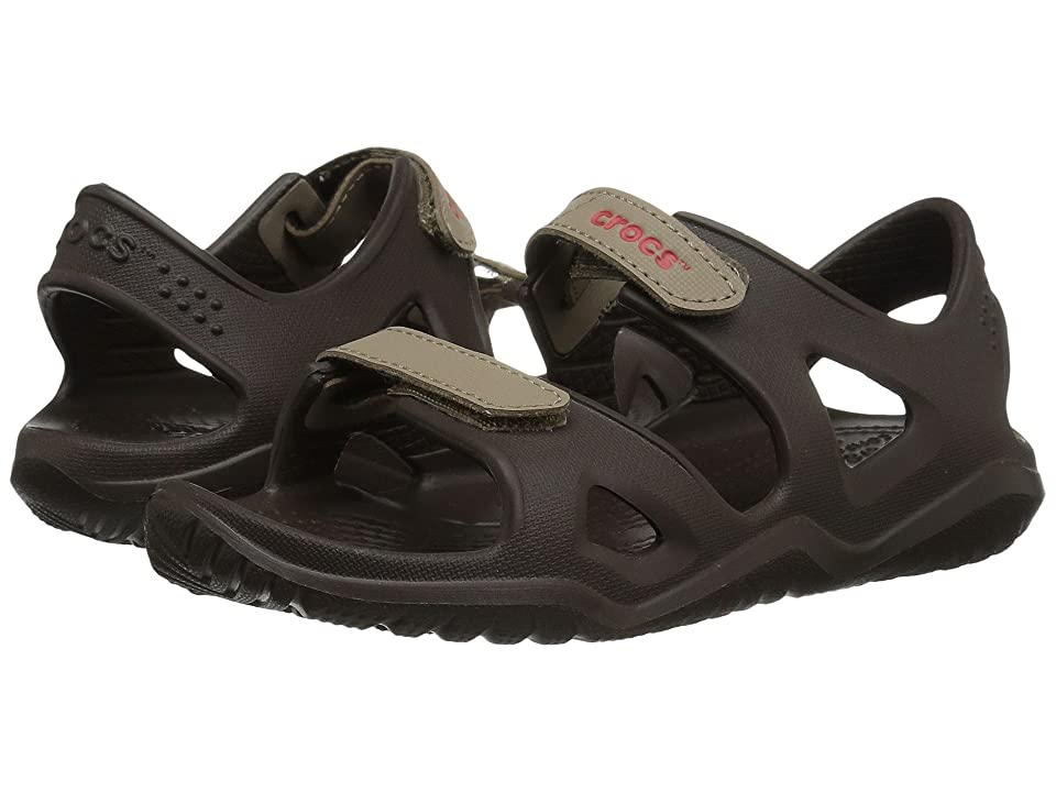 Crocs Kids Swiftwater River Sandal (Toddler/Little Kid) (Espresso/Khaki) Kids Shoes