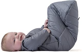 baby deedee Sleep Nest Travel Quilted Baby Sleeping Bag Sack with Sleeves, Gray Skies, Medium (6-18 Months)