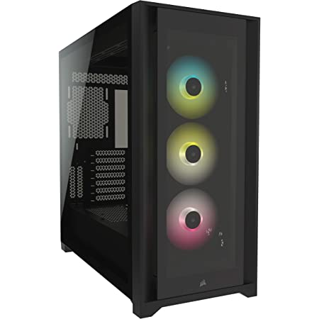 Corsair iCUE 5000X RGB Tempered Glass Mid-Tower ATX PC Smart Case - Black