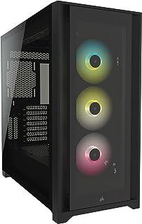 Corsair iCUE 5000X RGB Tempered Glass Mid-Tower ATX PC Smart Case, Black