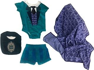 Haunted Mansion 4 Piece Layette Baby Set Blanket Bodysuit Short Bib