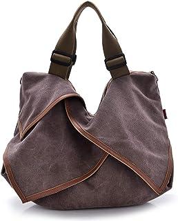 Serious Lamp Schulranzen Frauen Grosse Kapazität Tasche aus Segeltuch Vintage Handtasche aus Segeltuch Crossbody Tasche,Lila
