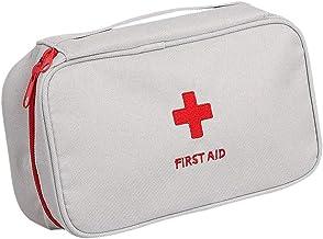 Kit de Primeros Auxilios, Bolsa vacía, Bolsa de Supervivencia, Bolsa de Almacenamiento médica, Bolsa de medicamentos, Bolsa portátil para el hogar, Oficina, Bolsa médica vacía (Gris)