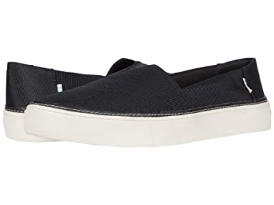 TOMS Parker (Black Textured Woven) Women