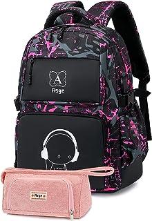 Asge Schulrucksack Mädchen Teenager Rucksack Maedchen Coole Schule Daypacks Kinder Reflektierender Schultasche Damen Outdo...