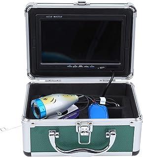 Buscador de peces de 7 pulgadas, 24 luces 1200TVL Cámara de búsqueda de peces submarina, Cable de 30 m IP68 Cámara subacuá...
